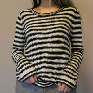Aeropostale black and white striped knit sweater